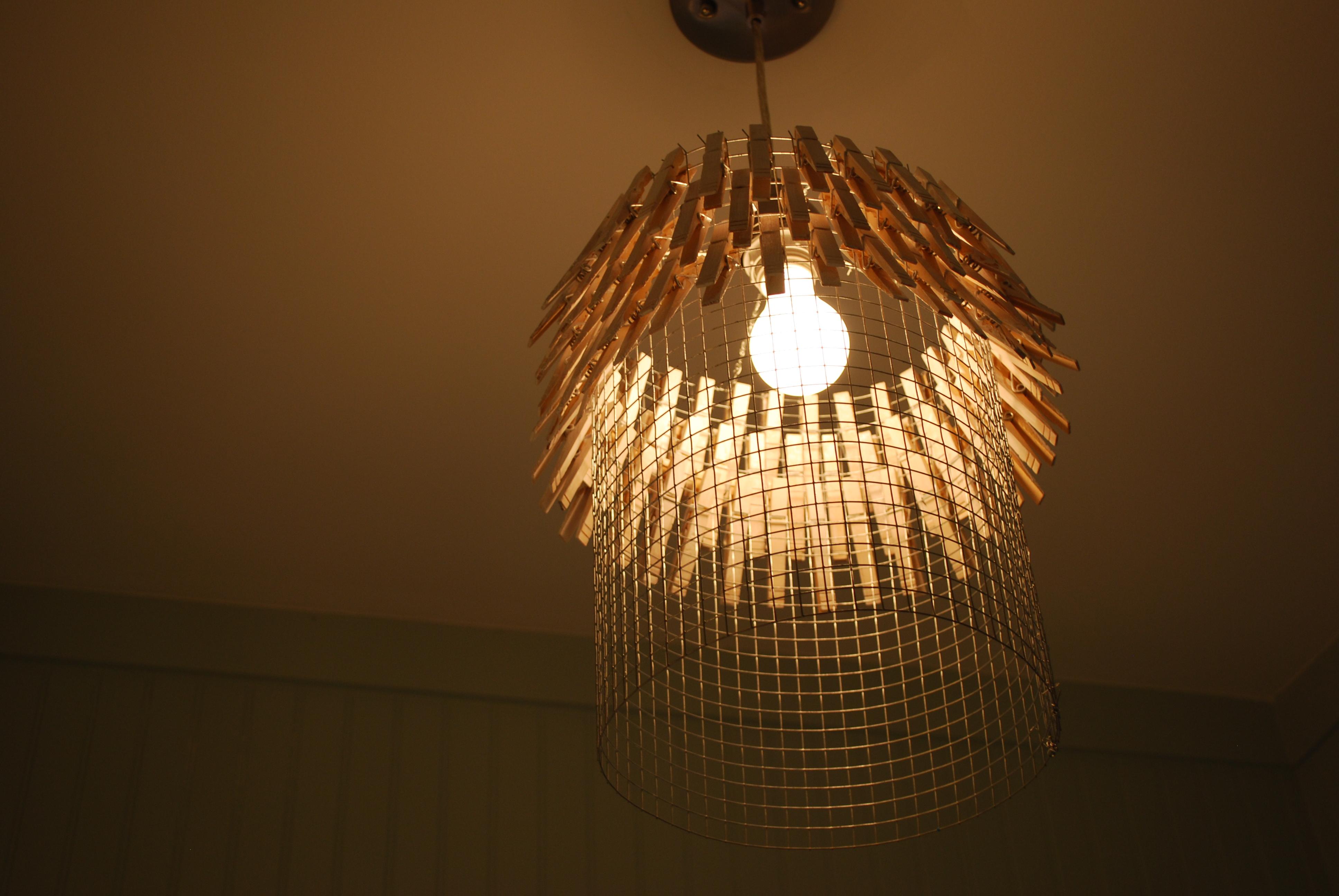 Diy Laundry Room Lamp Shade
