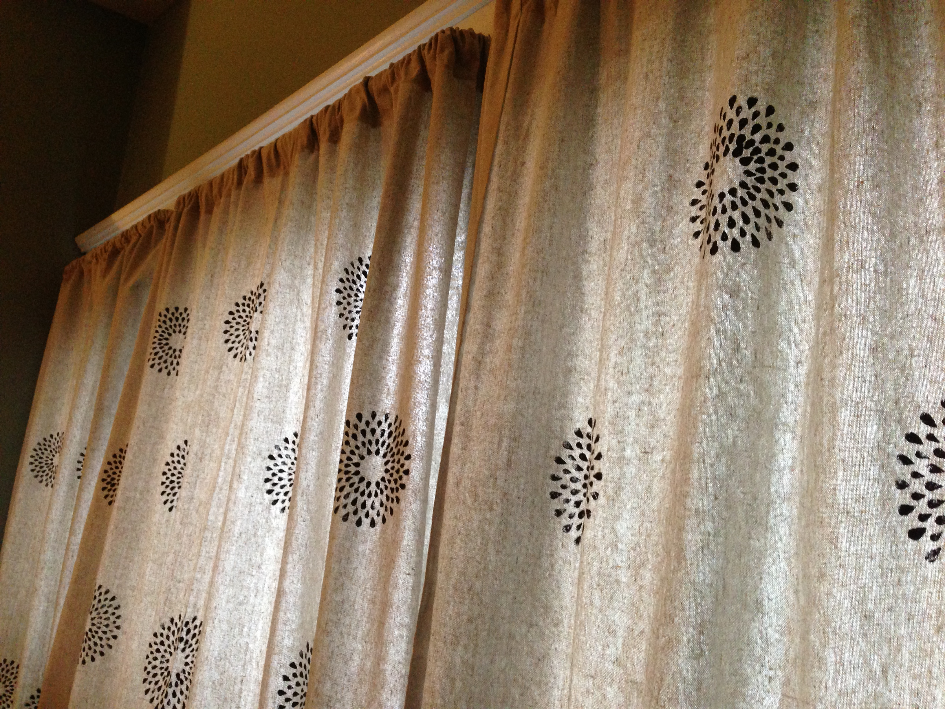Drop Cloth Curtains 2 Ways